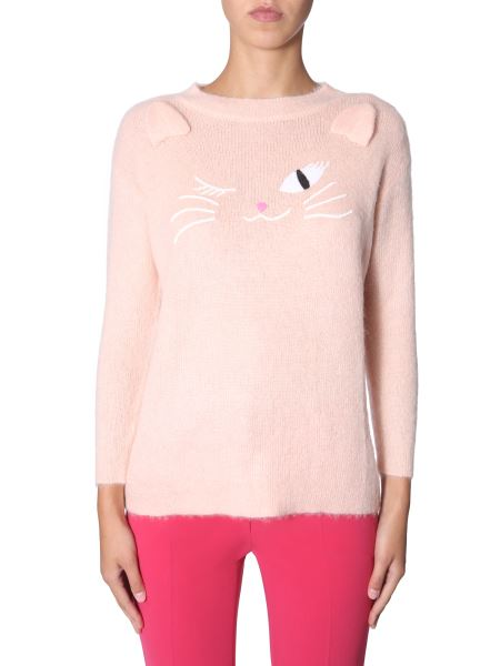 Boutique Moschino - Embroidered Mohair Sweater