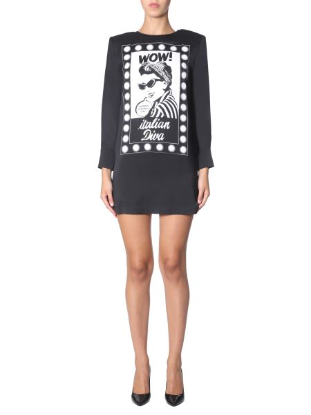 Boutique Moschino - Crew Neck Printed Dress Crew Neck Printed Dress