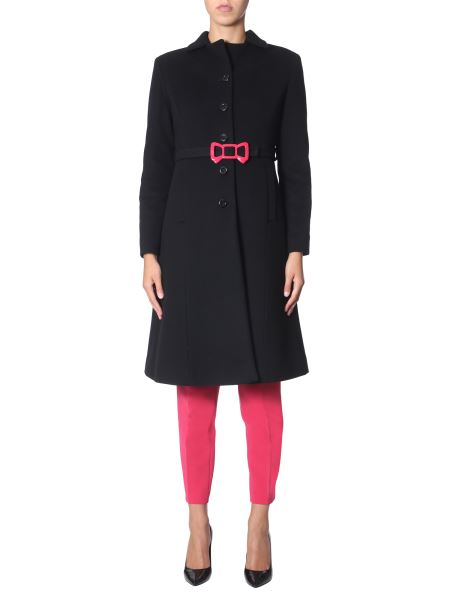 Boutique Moschino - Long Wool Coat With Belt