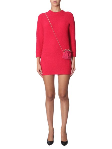 Boutique Moschino - Long-sleeved Wool Dress With Pouch
