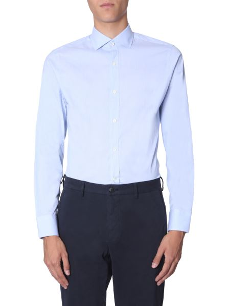 Z Zegna - Slim Fit Shirt With French Collar