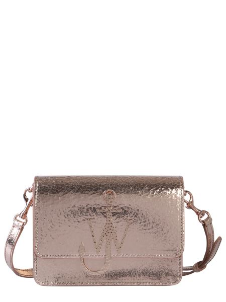 Jw Anderson - Anchor Logo Crackle Effect Leather Bag