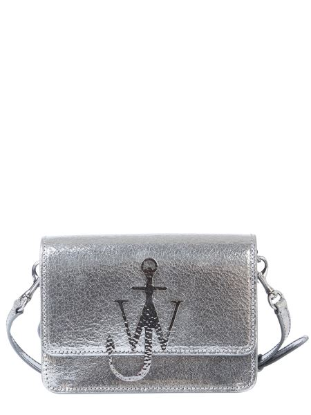 Jw Anderson - Anchor Logo Bag In Crackle Effect Leather