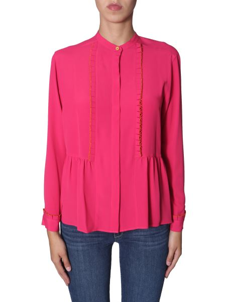 Ps By Paul Smith - Silk Shirt With Rouches