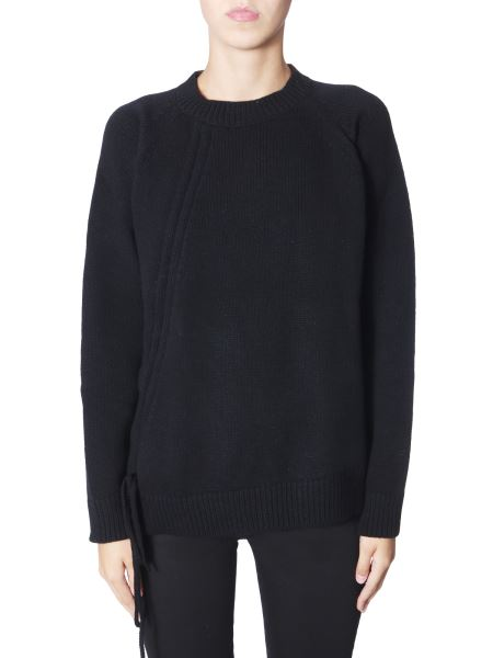 Mcq Alexander Mcqueen - Wool Sweater With Side Enclosure