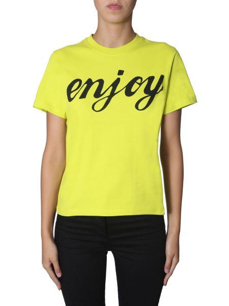 Mcq Alexander Mcqueen - T-shirt Girocollo In Cotone Con Stampa Enjoy