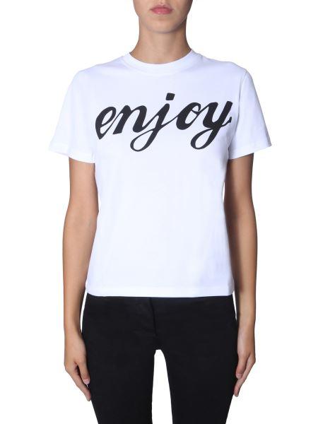 Mcq Alexander Mcqueen - Enjoy Printed Round Neck Cotton T-shirt