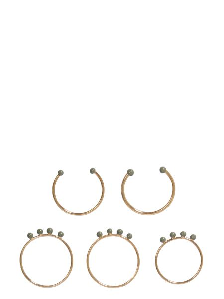 Isabel Marant - Set Of Five Brass Band Rings