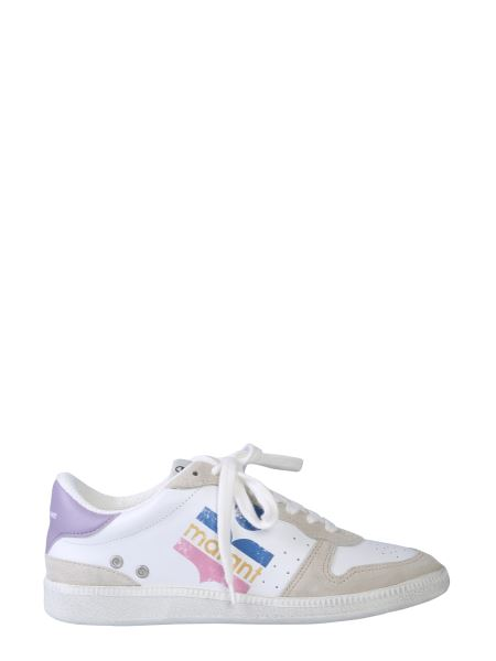 Isabel Marant - Bulian Leather Sneaker With Tricolor Logo