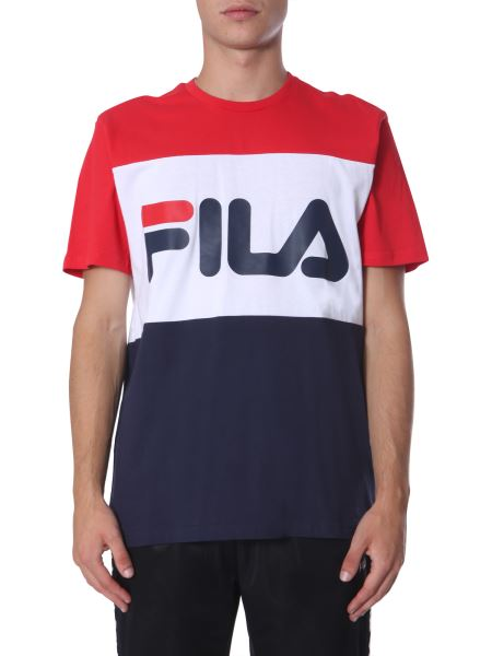 "Fila - ""day"" T-shirt With Rubber Logo"