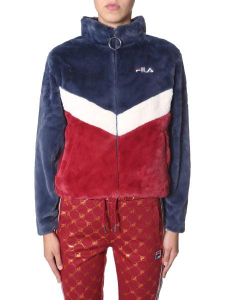 """Fila - """"charmaine"""" Color Block Faux Fur Jacket"""