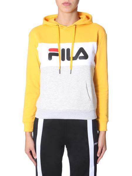 "Fila - ""lori"" Hooded Sweatshirt With Logo Band"