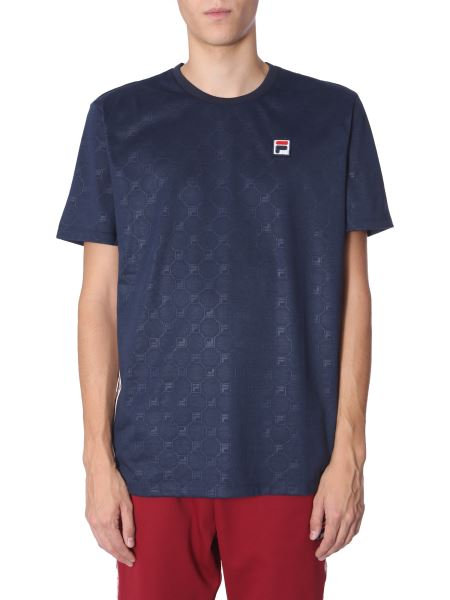 "Fila - ""nariman"" Round Neck Cotton T-shirt With Logo Band"