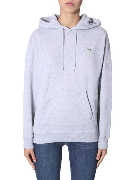 Lacoste - Hooded Cotton Sweatshirt With Logo Patch