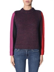 PS BY PAUL SMITH - MAGLIA CON MANICHE A RIGHE