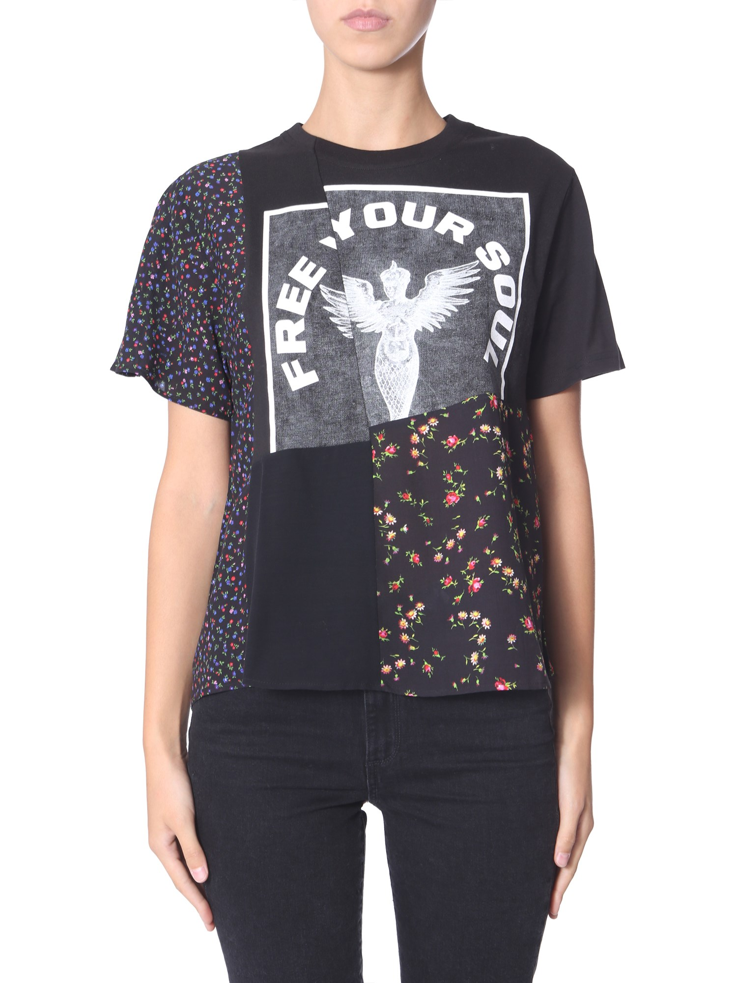 "Mcq By Alexander Mcqueen Tops ""FREE YOUR SOUL"" T-SHIRT"
