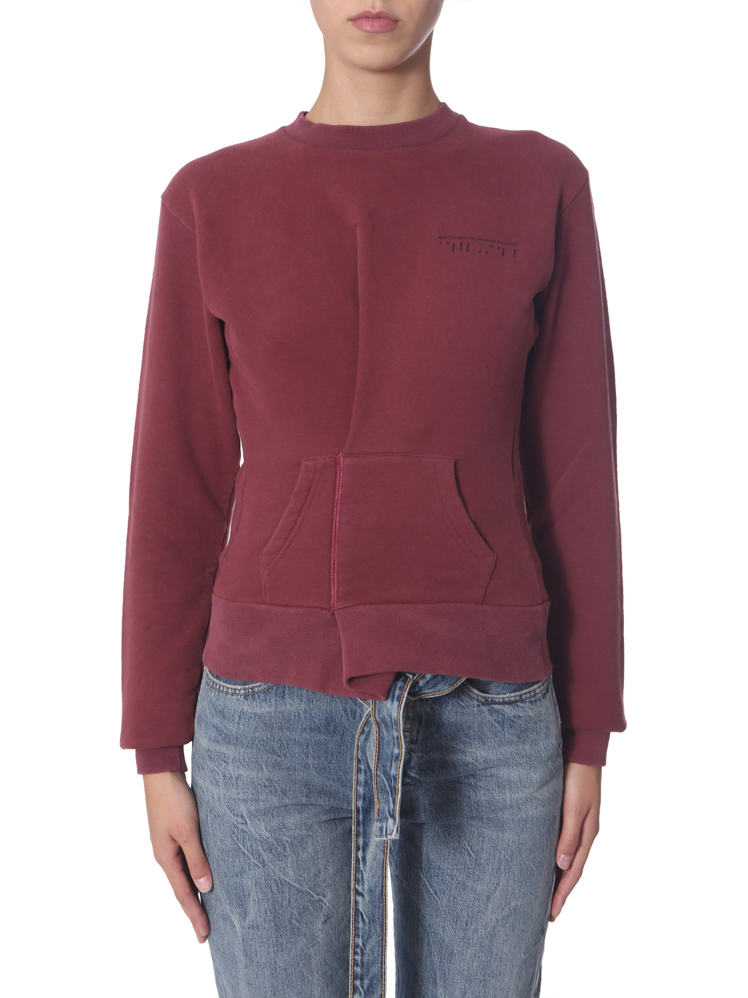 Ben Taverniti Unravel Project Tops CREW NECK SWEATSHIRT