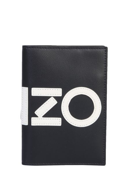 Kenzo - Leather Passport Holder With Logo