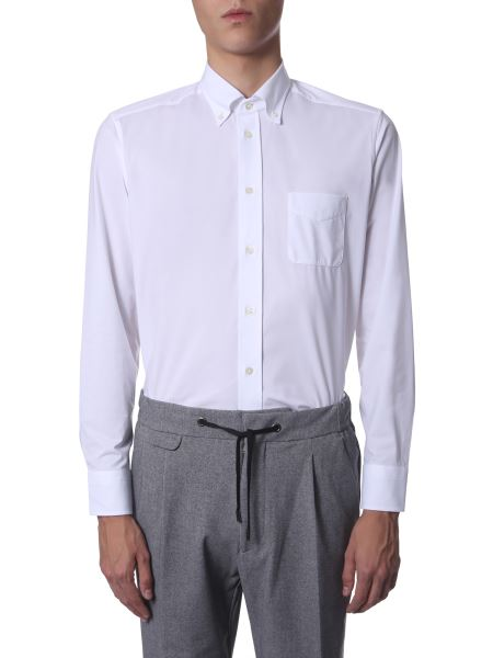 Traiano - Button Down Shirt In Creased Fabric