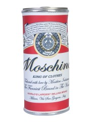 MOSCHINO - ASTUCCIO A FORMA DI LATTINA BUDWEISER