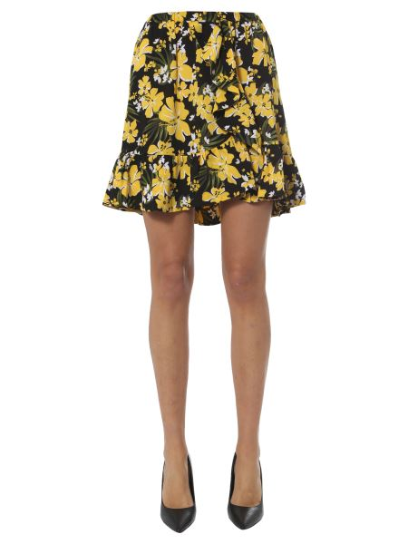 Michael By Michael Kors - Floral Print Skirt With Ruches