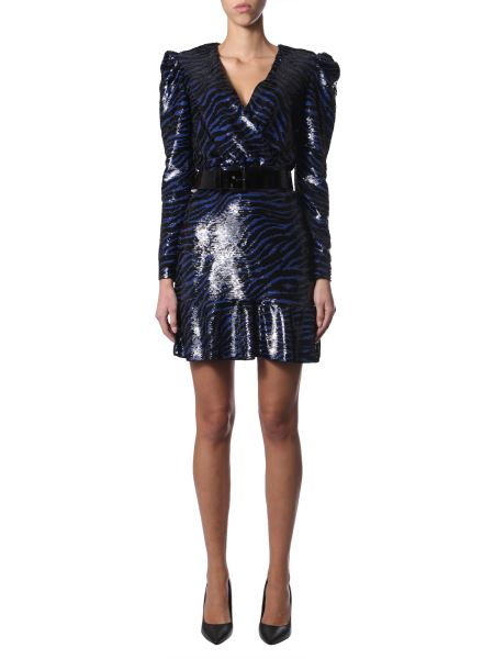 Michael By Michael Kors - V-neck Dress With Sequins