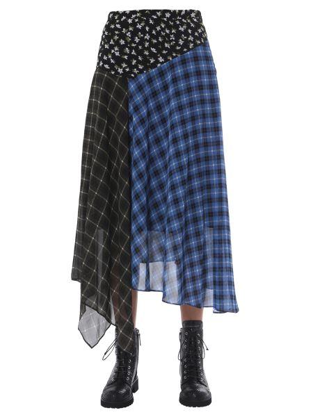 Michael By Michael Kors - Long Patchwork Skirt