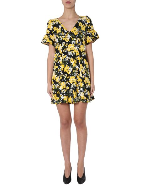 Michael By Michael Kors - V-neck Dress With Floral Print And Sequin