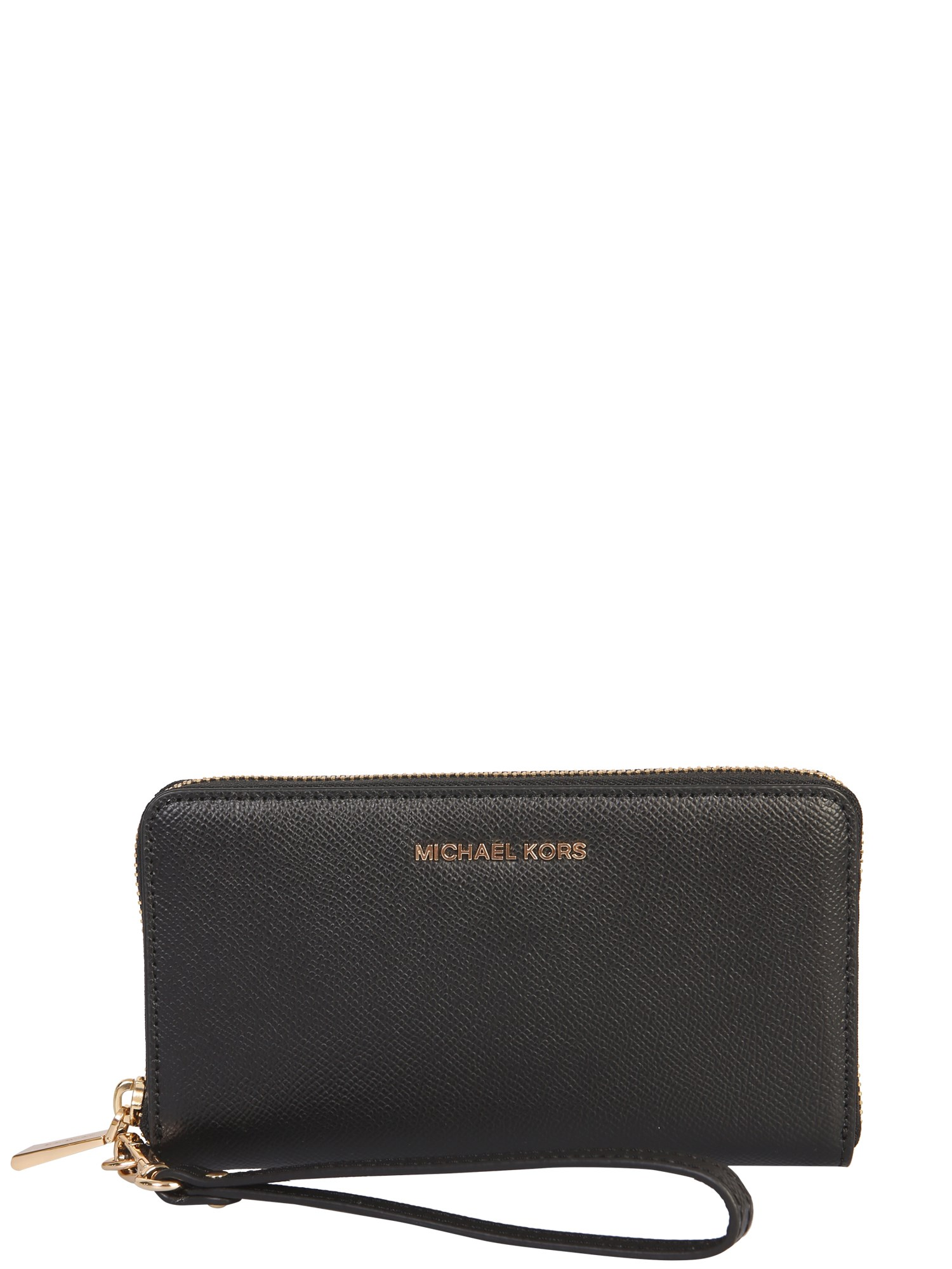 Michael Michael Kors Jet Set Wallet In Black