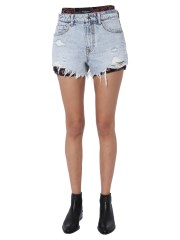 ALEXANDER WANG - SHORT IN DENIM