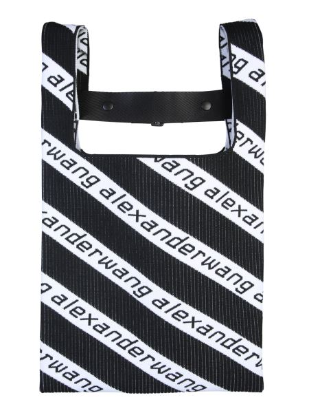 Alexander Wang - Borsa Shopping Medium In Maglia Con Logo Diagonale
