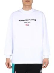 ALEXANDER WANG - T-SHIRT GIROCOLLO