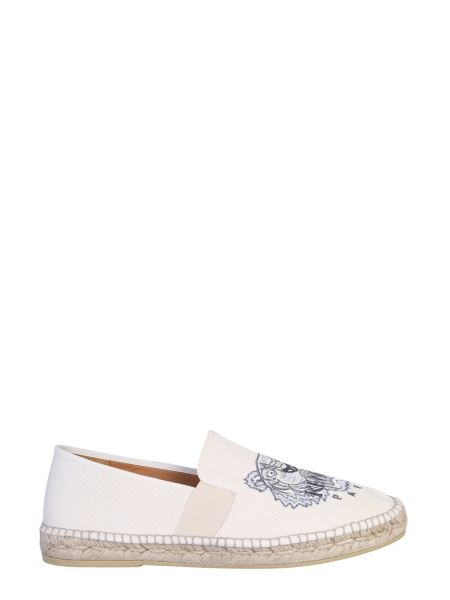 Kenzo - Canvas Espadrillas With Embroidered Tiger