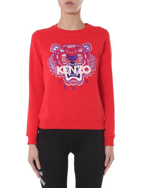 Kenzo - Felpa Slim Fit Girocollo In Cotone Con Logo