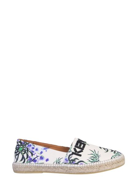 Kenzo - Canvas Espadrillas In Floral Print With Logo