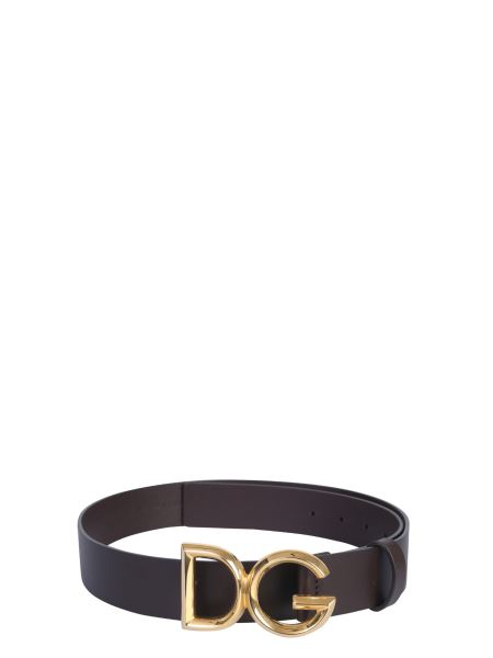 Dolce & Gabbana - Leather Belt With Dg Logo