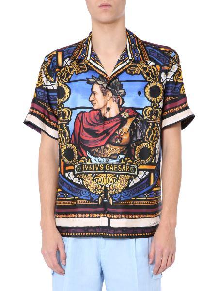 """Dolce & Gabbana - Lion Print """"hawaii"""" Silk Twill Shirt"""