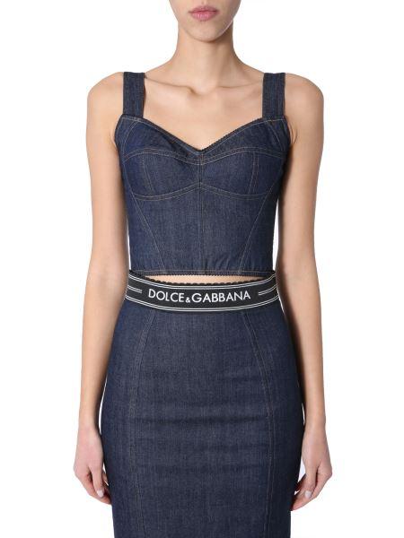 Dolce & Gabbana - Bustier Cotton Denim Top