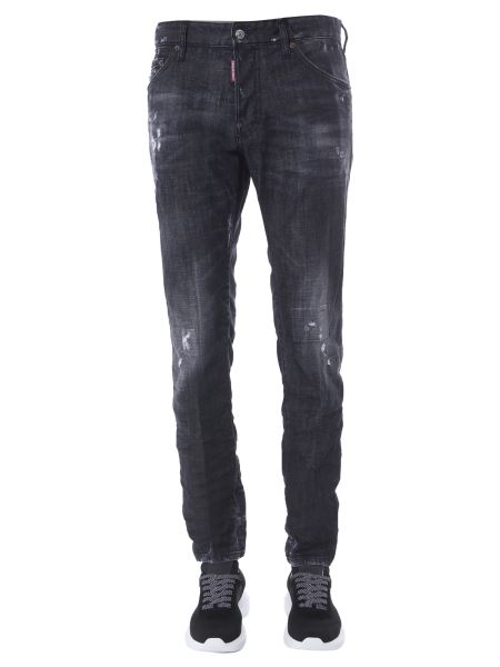 """Dsquared - """"cool Guy"""" Cotton Denim Jeans With Logo Patch"""