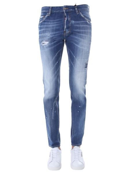 Dsquared - Cool Guy Fit Cotton Denim Jeans With Logo Patch