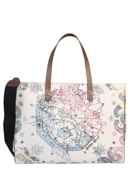 Golden Goose Deluxe Brand - California Shopping Bag In Canvas Print Paisley