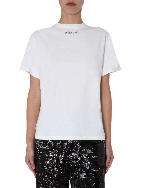 """Golden Goose Deluxe Brand - """"for Dream"""" Crew Neck Cotton T-shirt With Print And Logo"""
