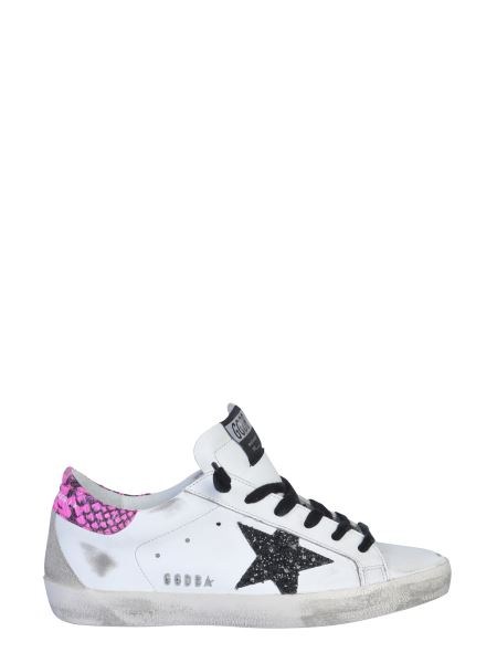 Golden Goose Deluxe Brand - Superstar Leather Sneaker With Glitter Star