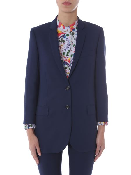 Ps By Paul Smith - Blazer Oversize Fit In Lana