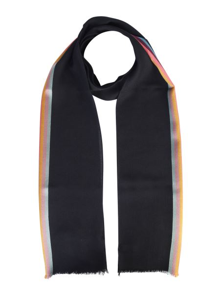 Paul Smith - Wool And Silk Scarf With Iconic Strip