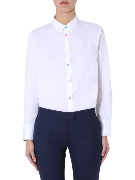 Ps By Paul Smith - Cotton Shirt With Contrast Buttons