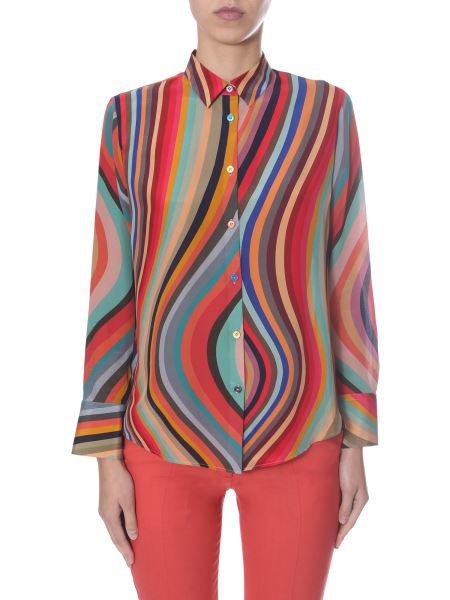 "Ps By Paul Smith - ""swirl"" Print Silk Shirt"