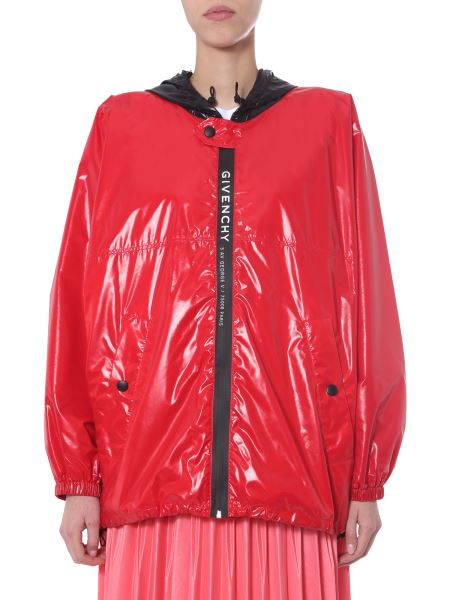 Givenchy - Hooded Wind Jacket With Logo Band