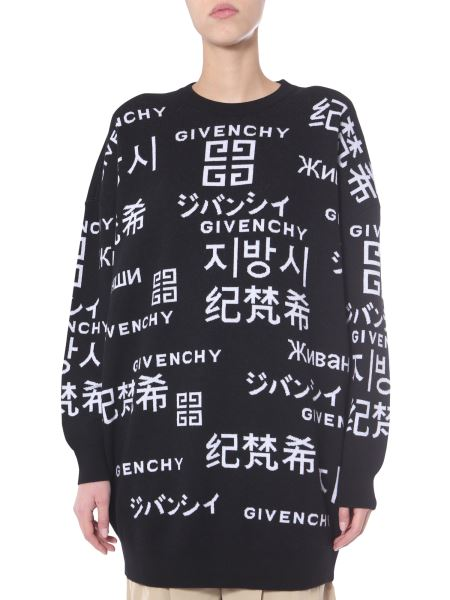 Givenchy - Oversized Fit Wool Sweater With Logo