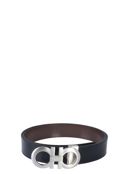 Salvatore Ferragamo - Reversible Leather Hook Belt